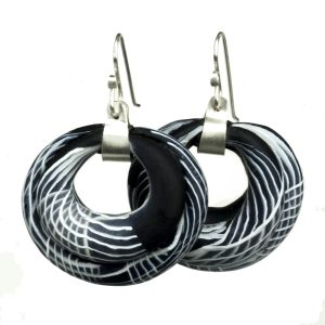 Sultana Black & White Earrings